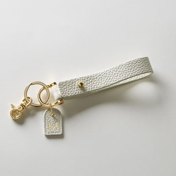 Premium Shrink Leather Initial Key Holder (イニシャル入りキーホルダー)