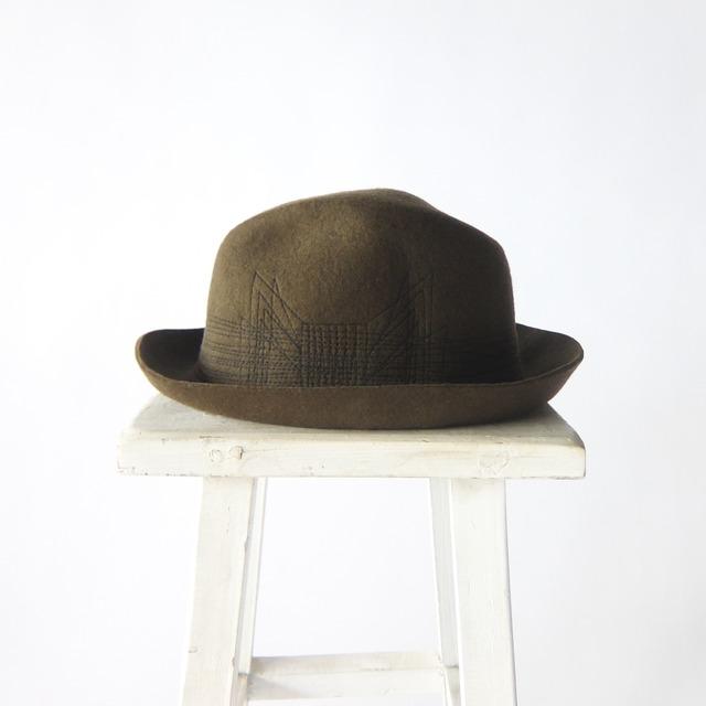 SanFrancisco Hat - ウールフェルト ステッチリボンハット - Green