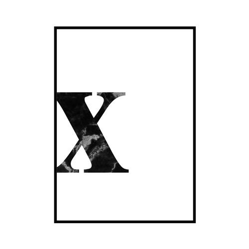 """x"" 黒大理石 - Black marble - ALPHAシリーズ [SD-000551] A4サイズ ポスター単品"