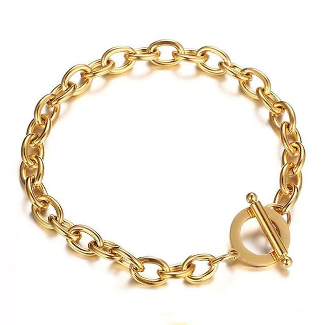 316L Toggled Bracelet 【7mm/GOLD】