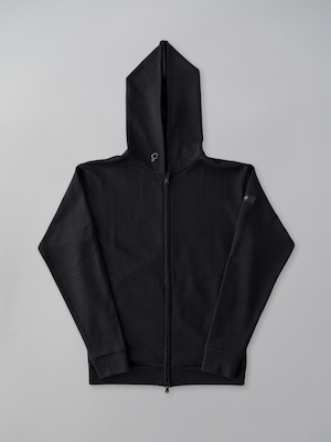 Basic Zip Up Parker Black