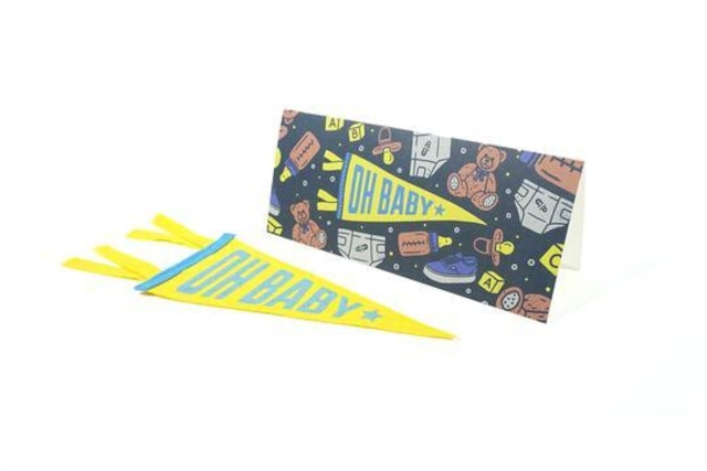 OH BABY Greeting Card & Mini Pennant