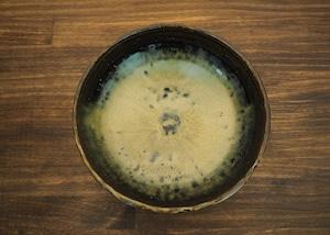 黒蕎麦釉  中鉢/鶴田季子