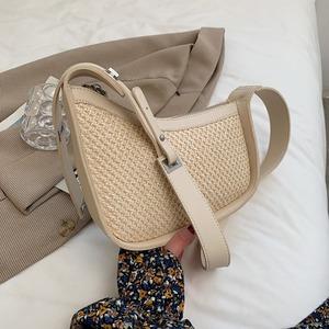 ファッション草編みシンプル上品バッグ<ins-1605>