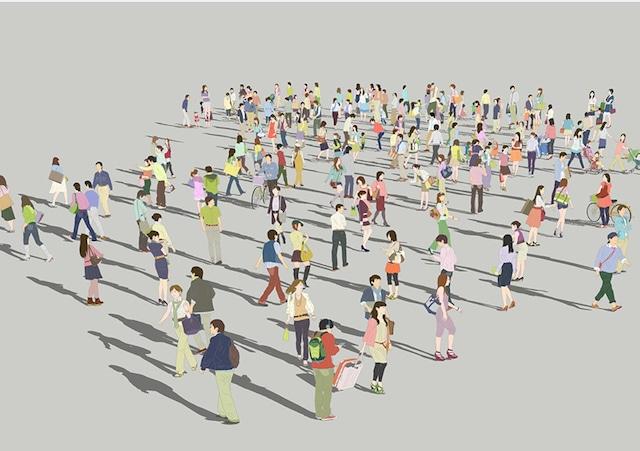 人物イラストSketchUp素材 4up_color01_100 - メイン画像
