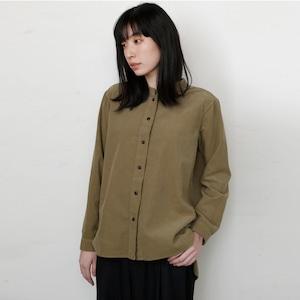 [ボタニカルダイ]ヨモギ染めコーデュロイシャツ 8714-01001-48