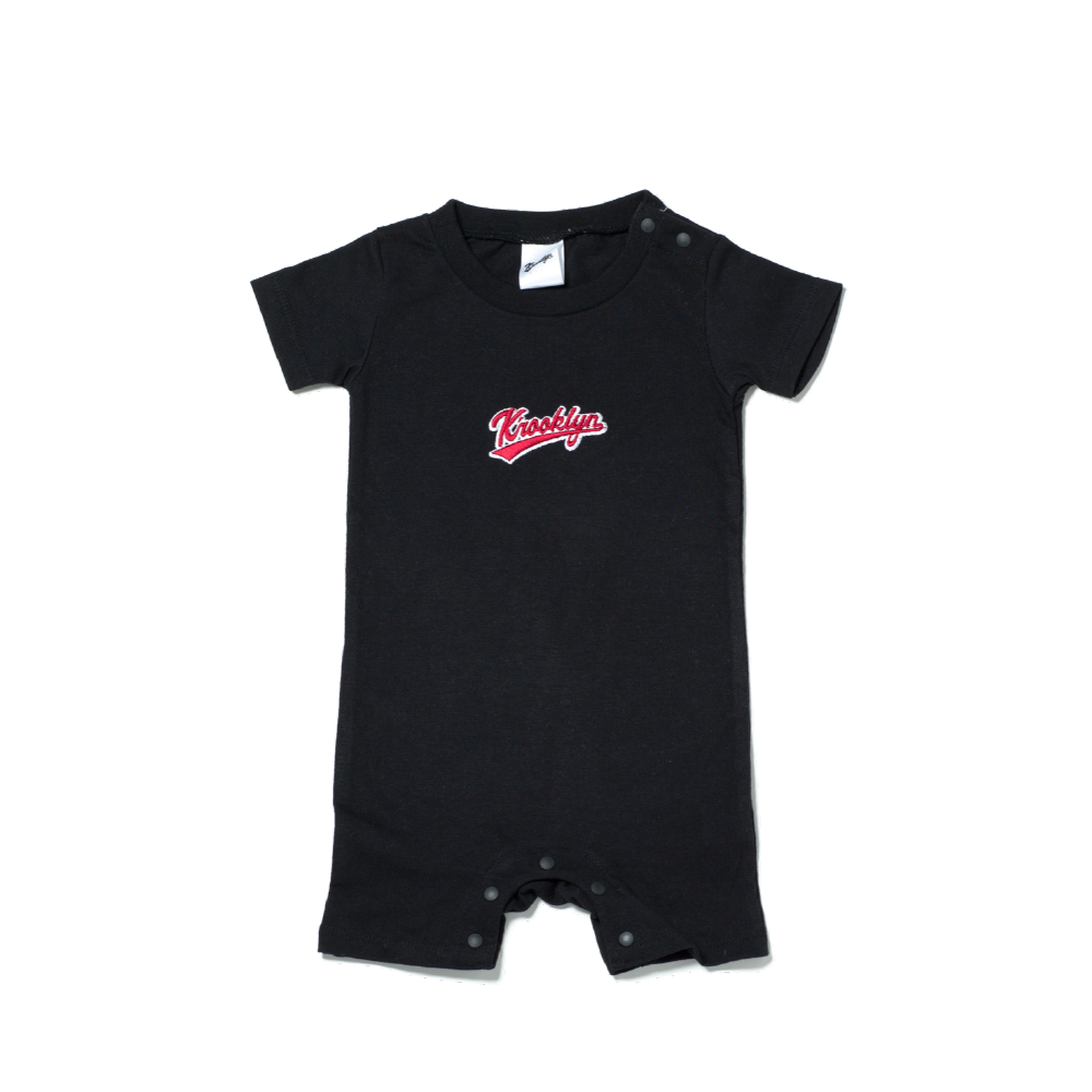 K'rooklyn Logo Baby Rompers - Black (80cm)