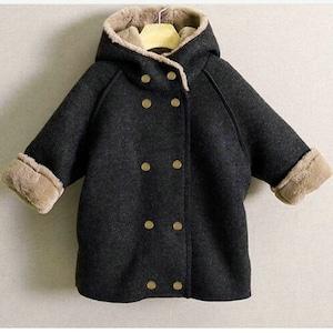 子供服 冬 アウター フード付き キッズ ツイード 冬コート ファー 男の子 厚手 ジュニア 女の子 ジャケット 防寒 コート1546