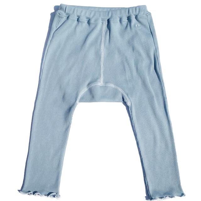 【ベビー服】綿シルクテレコ 配色スパッツ / トワイライトブルー / 80~100サイズ