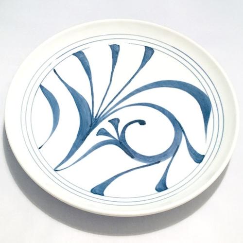 【砥部焼/梅山窯】8寸丸皿・切立(一つ唐草)