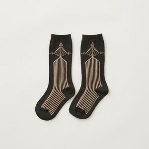 eLfinFolk  Abies high socks (charcoal) M/L/LL elf-212A35 メール便可