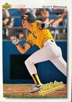 MLBカード 92UPPERDECK Scott Brosius #312 ATHLETICS