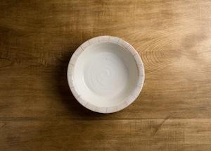 たて鉄線 切⽴リム浅鉢 ⼤(深皿・ボウル)/古谷 浩一