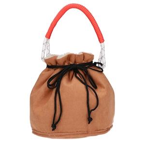 14668000【MINNETONKA/ミネトンカ】Fake mouton drawstring bag/フェイクムートンバッグ