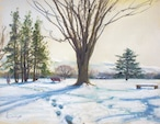 NO.82「雪の足跡・2月」