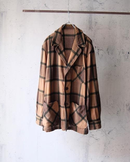 Plaid pattern wool jacket