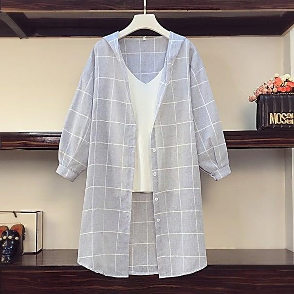 透け感が涼しげ♡ロングパーカーシャツ&タンク♪