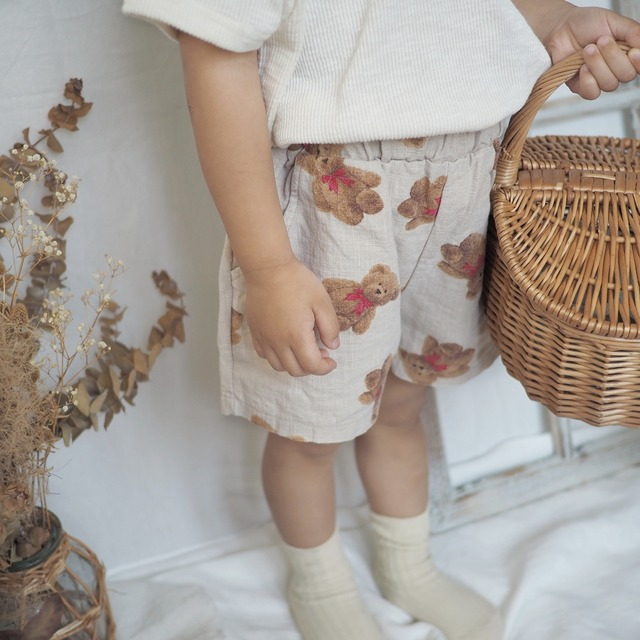 bonito.teddybearショートパンツ[80-110]即納