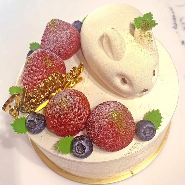 うさぎのお誕生日ケーキ6号(6~8名様分)