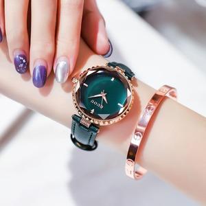 好感度100% シンプル カジュアル 合わせやすい レザーベルト レディース 腕時計 <ins-2040>