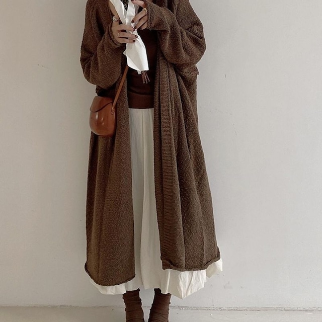 Long knit cardigan KRE1073