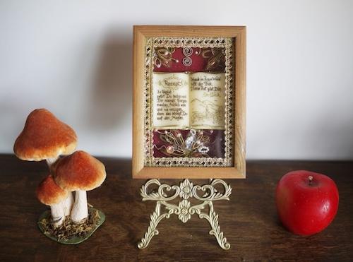 蝋細工の額 修道院手工芸