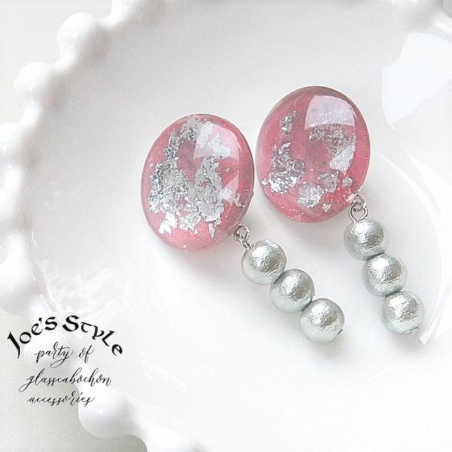 """ Earrings NO.238-639″ 箔とペイント"