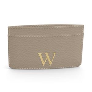 Premium Shrink Leather Card Case (Beige)