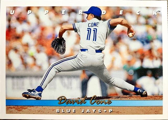 MLBカード 93UPPERDECK David Cone #335 BLUEJAYS