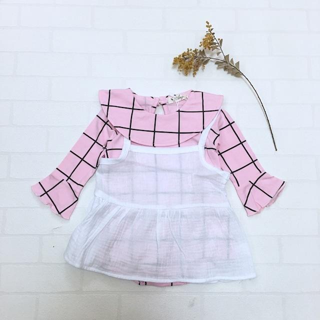 キャミ&ロンパースセットアップ ピンク