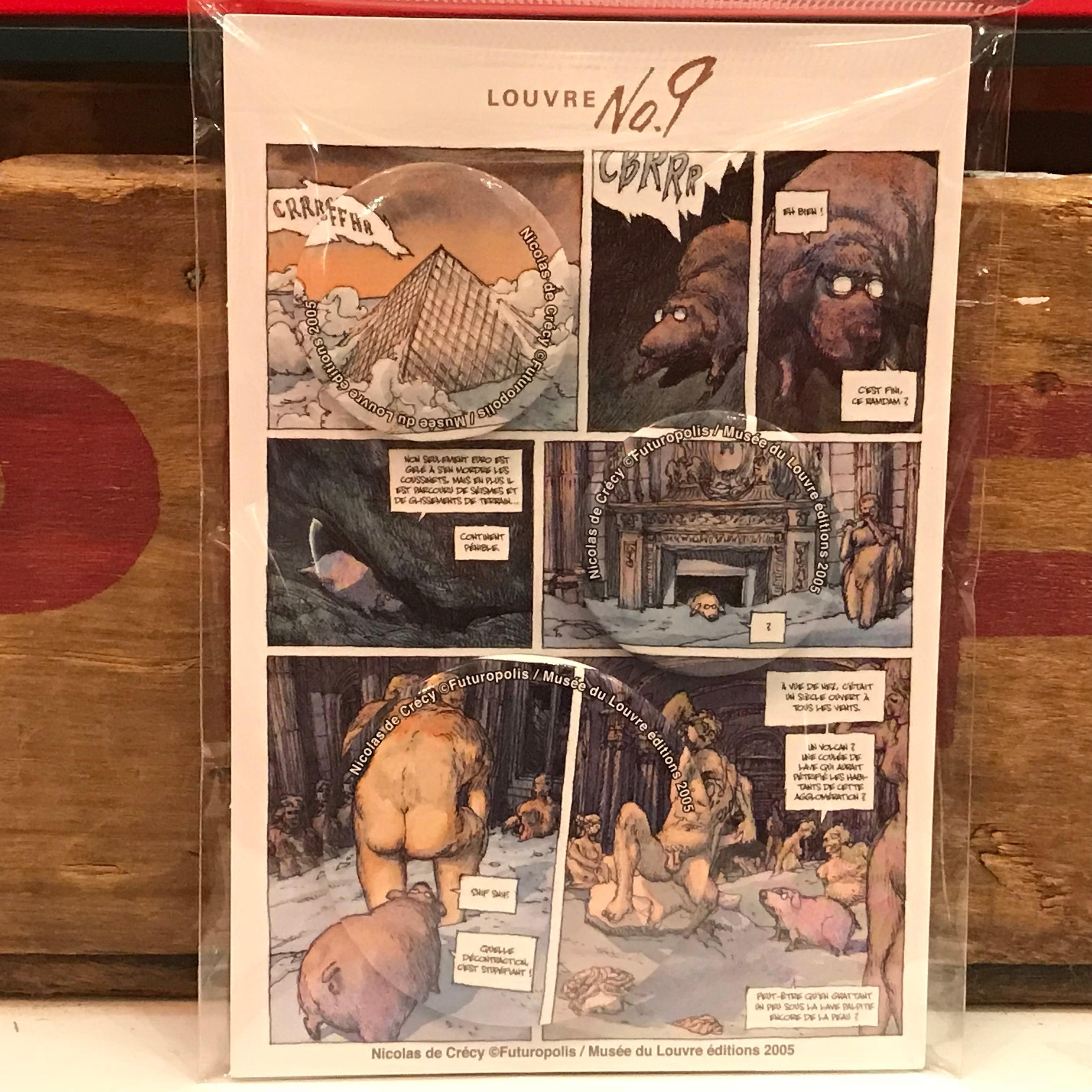 ルーヴルNo.9 ニコラ・ド・クレシー 限定 缶バッジセット バンド・デシネ