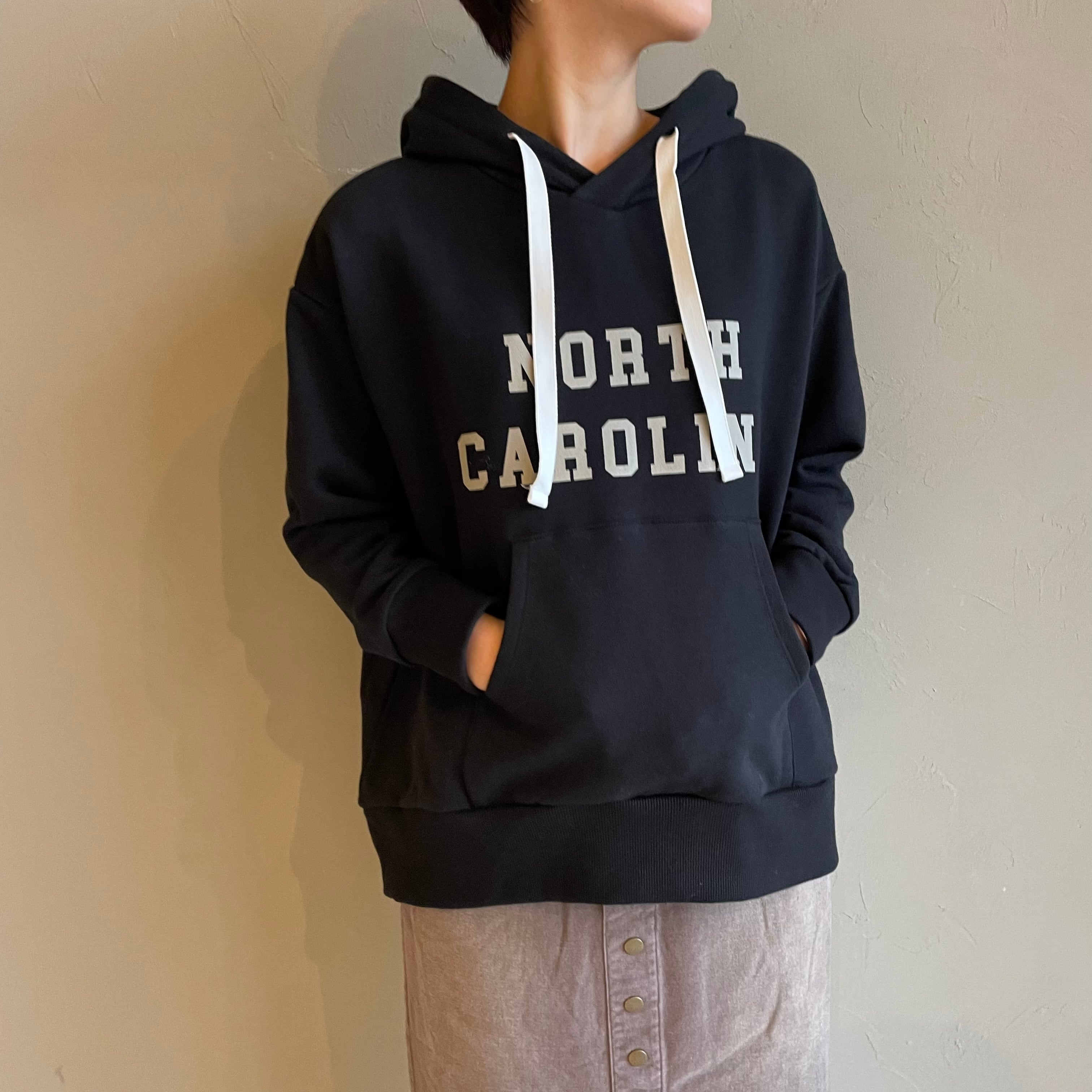 【 siro de labonte 】- R153206 - CENTRAL BRUSH SWEAT(裏起毛)print hoodie