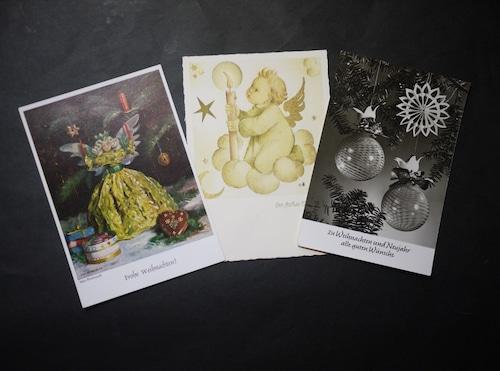 クリスマスポストカード ドイツ絵葉書 古い印刷物