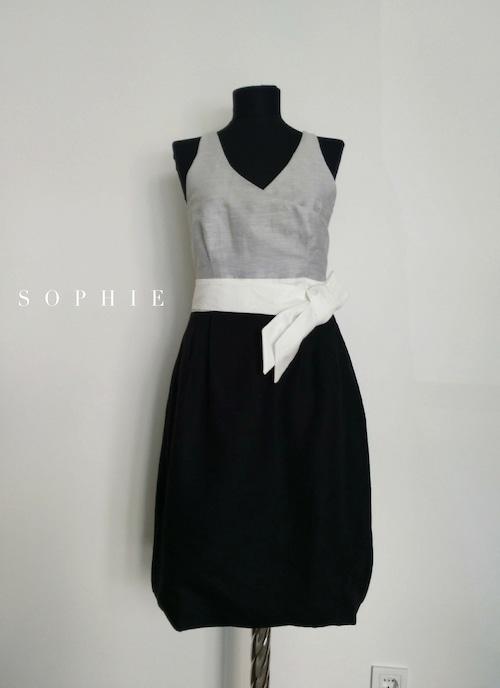 SOPHIE Linen Bicolor Dress リネンバイカラードレス ソフィー