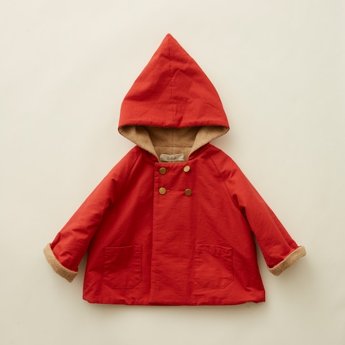 《eLfinFolk 2021AW》elf coat / red / 110-130cm