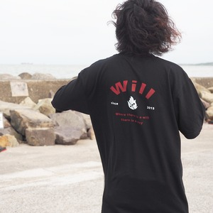 WillxWill 「Where there is a will, there is a way」T-shirts Black