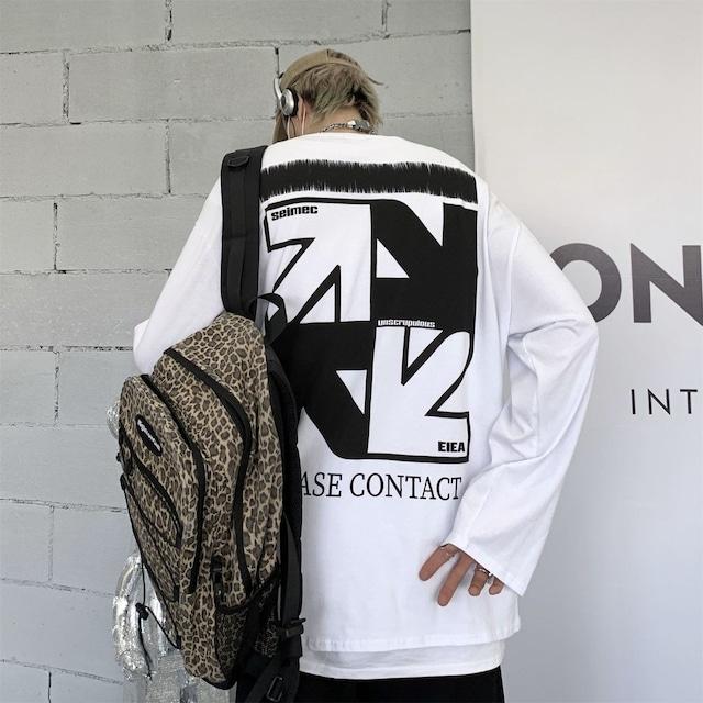 【トップス】矢印図柄ファッションストリート系男女兼用長袖Tシャツ52994918