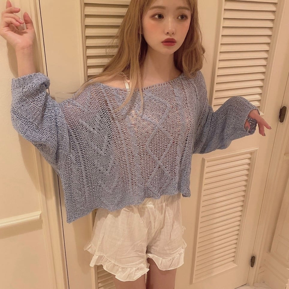 【SSC atelier】pastel summer knit