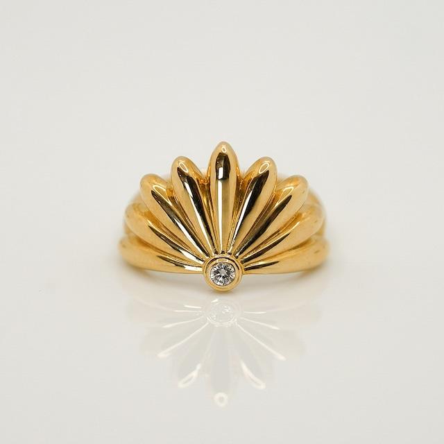 Chrysanthemum ring - K18YG