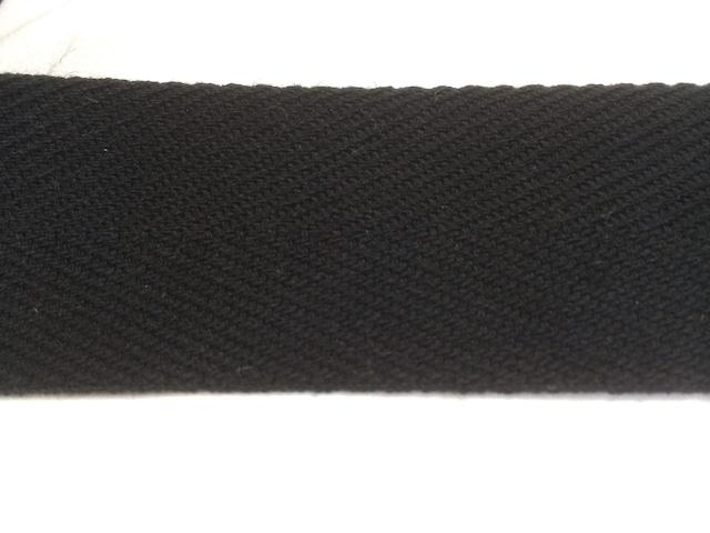 アクリル 杉綾織(綾テープ) 20mm幅  黒 /カラー 10m単位