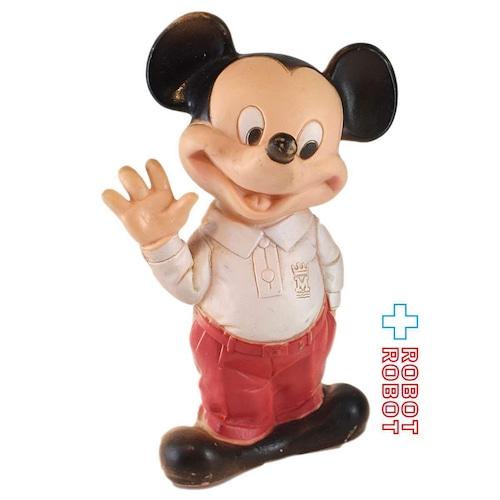 ミッキーマウス ラバードール 白シャツ赤ズボン