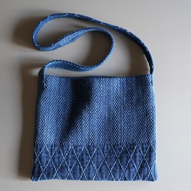 うしじま縫製 | 武州正藍染 サコッシュ 二重刺子