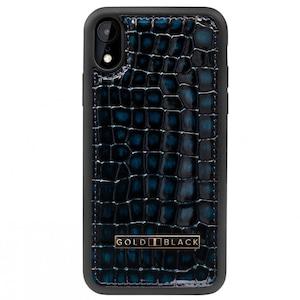 ゴールドブラック(GOLDBLACK) iPHONE XR CASE MILANO BLUE 19194