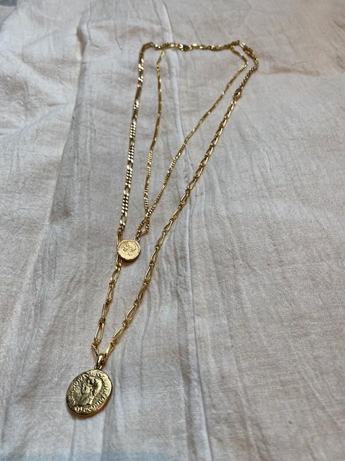 Soierie aging coin necklace 2p set
