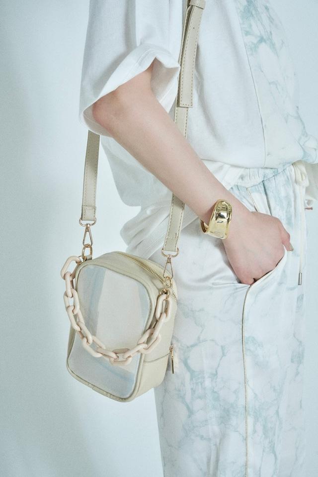 Collar Chain Clear Bag