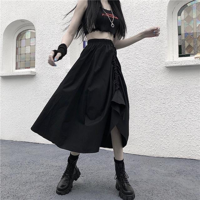 【ボトムス】ファッションハイウエスト細見せ,着痩せカジュアルスカート52678169