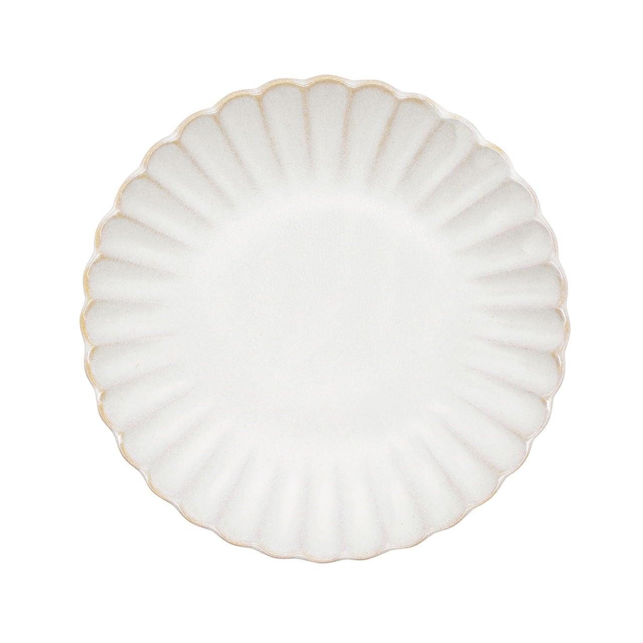 aito製作所 「花 hana」プレート 皿 16cm M ぎんはく 瀬戸焼 288132