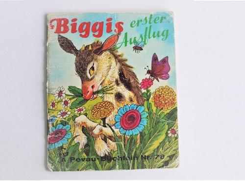 ヴィンテージミニ絵本 「ビギスはじめてのお出かけ」pestalozzi-verlag 手のひら絵本