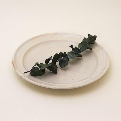 鉄散 リム皿 7寸 古谷製陶所 信楽焼