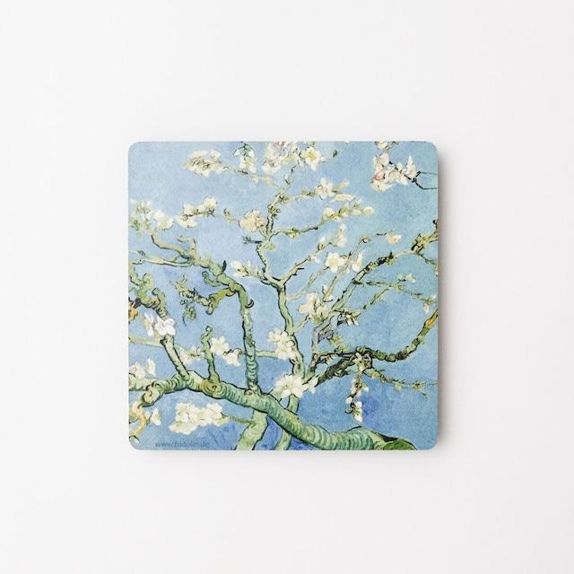 ゴッホ アートコースター 花咲くアーモンドの木